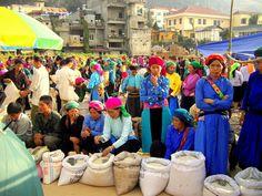 Giay women in Dong Van market #Vietnam http://tribesandminorities.com/asia/things-to-do-in-vietnam/