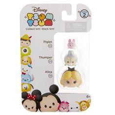 Disney Tsum Tsum Series 2 Piglet Thumper Alice Figures 3 Pack - Radar Toys