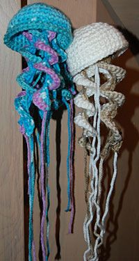 okay who wants to crochet me a bunch of brightly colored little jellyfish?