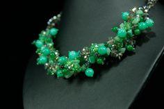 beadwork necklacestatement necklaceBeaded by CollanaCollar on Etsy, ฿750.00