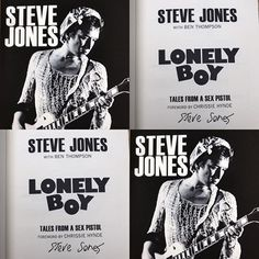 Steve Jones Lonely Boy signed autobiography in the post today! @jonesysjukebox @the_sex_pistols #stevejones #stevejoneslonelyboy #talesfromasexpistol #lonelyboy #chrissiehynde #signedbook @penguinbooks #punk #sexpistols