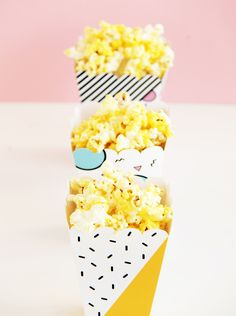 Pop Printable Popcorn Snack Box | DESIGN IS YAY!