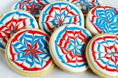 Firework cookies - 15 Great Dessert Ideas for Fourth Of July I 4th of July Sweets and Treats for Kids - ParentMap