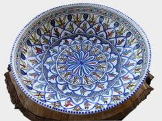 Fairtrade donker blauwe saladeschaal van Tunesisch aardewerk voor €25,95