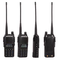 Baofeng UV-82 Walkie Talkie de Mano de Doble Banda VHF y UHF 136-174 MHz y 400-520 MHz Con Botón doble PTT de Radio de Dos Vías Nuevo Diseño