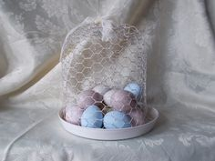 Easter eggs cloche