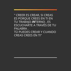 """Hola como estas? espero que tengas un excelente día! Hoy en mi hora de lectura diaria encontre esta frase que me encanto : """" Creer es crear, si creas es porque crees en ti en tu trabajo interno , es escucharte a través de tu palabra . Tú puedes crear y  cuando creas crees en ti""""#MariaImeldaCardona #CoahingFinanciero #Invertir #Consciencia #Prosperidad #Dinerotrabajeparati"""