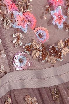 Needle & Thread - Embellished Embroidered Tulle Dress - Lavender - UK