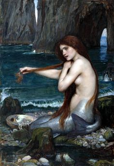 John William Waterhouse :: A Mermaid c. 1901 Love waterhouse