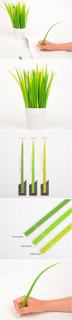 Modern Grass Leaf Pen Desk Accessory