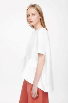 Oversized draped top