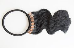 Minimal Eleanor Amoroso Macrame jewellery black copper necklace 2015