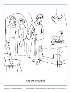 A Room For Elisha Coloring Page