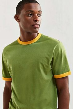 Ringer Tee Color- Green Size- Large