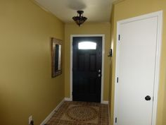 14. Entryway with new door.