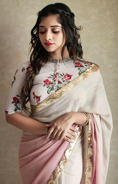 Exquisite, Chic and Creative Clothing by Laksyah – A Fashion Label by Actress Kavya Madhavan - Alles über Damenmode Kurta Designs, Saree Blouse Neck Designs, Saree Blouse Patterns, Fancy Blouse Designs, Saree Jacket Designs Latest, Designer Saree Blouses, Sari Bluse, Stylish Blouse Design, Indian Designer Outfits
