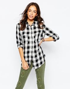 Only Mono Checked Shirt