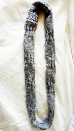 Scarf Grey Handmade Infinity Loop Knitted Original Pattern Infinity, The Originals, Random, Grey, Crochet, Pattern, Handmade, Gray, Infinite