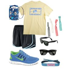Summer workout and babysitting! #nike #preppy #southerntide, created by southernbellegrace on Polyvore