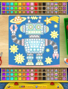 "Superzaic - Kids Mosaic Crafts ($1.99) Superzaic brings the fun of kids mosaic sticker crafts to your iPad! The perfect edutainment for dining out, waiting in line, or keeping amused on long car or airplane rides. Your child will be ""in the zone"" creating masterpieces without noisy music, objectionable content, or obnoxious ads."