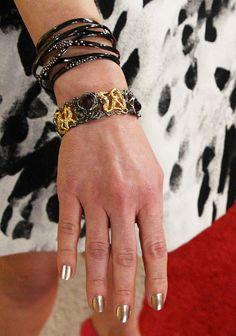 Multi Strand Bracelet and Bronze/Gold Bangle by Alexis Bittar