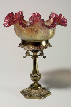 beautiful antique art glass brides baskets bowls - Google Search