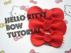 Hello Kitty Bow Tutorial