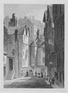 High School, Wynd, Edinburgh engraved by William Watkins, 1831 (engraving) (b/w photo) Wall Art & Canvas Prints by Thomas Hosmer Shepherd