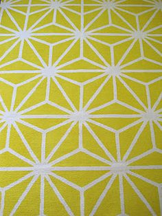 new painted yellow modern geometric starburst rug d.i.y. starting with a plain ikea erslev rug with madeline weinrib design
