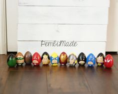 Wooden Egg Set Frozen Inspired by PembiMade on Etsy