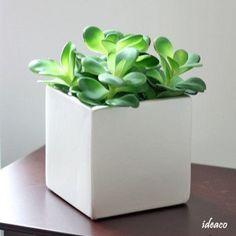 Plant Crafts, Decor Crafts, Home Decor, White Planters, Planter Pots, Ceramic Pots, 1 Piece, Pearl White, Grass