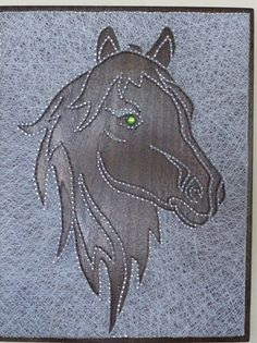 Horse. String Art Picture. DETAILS • Materials : Wood , nails and silk threads. • Size: 12 X 10 Perfect for gifts. Can be hung on the wall. I can make it just for you: different sizes and colors. Thank you so much for visiting my Etsy store.