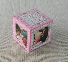 Birth Announcement Photo Block Nursery by knockyourblocksoff
