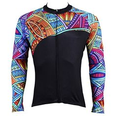 76258208c PaladinSport Men s Long Sleeve Cycling Jersey Spring and Summer and Autumn  Style 100% Polyester SQ525 Size S