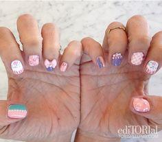 Summer nail art #thinkpink #desserttableinspirednails