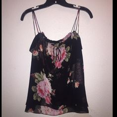 Express Flower Tank Express flower tank top. Chiffon material with no snags. Double layered and not see through. I wore this to work and it was perfectly fine.    same or next day shipping. posh rules. no trades.  feel free to make an offer. 20% off bundles of 3+ Express Tops Tank Tops