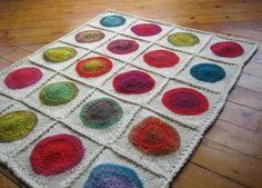 Knitted POP blanket by Emily Wessel...tutorial