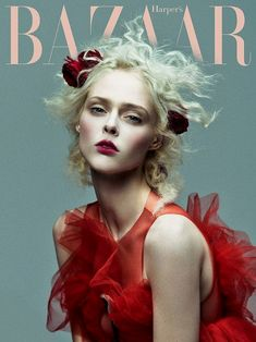 Coco Rocha wears floral look on Harper's Bazaar Vietnam January 2017 coverCoco Rocha models blue dress with ruffled detailsLooking lovely in red, Coco Rocha - Lafestar Wholesale Vogue Editorial, Editorial Hair, Editorial Fashion, Fashion Magazine Cover, Fashion Cover, Vogue Photography, Editorial Photography, Photography Ideas, Photography Flowers