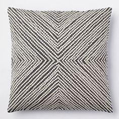 Diamond Dot Crewel Pillow Cover - Slate #westelm. Entry