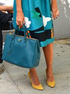 I LUV PRADA - Handbag blue @yourbag.yourlife http://yourbagyourlife.com/