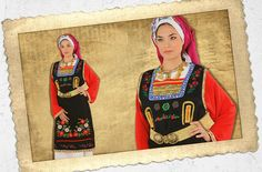 THRACE WOMAN EMBROIDERED  | ΘΡΑΚΙΩΤΙΣΑ ΚΕΝΤΗΜΕΝΗ #Greece #Traditional_costumes #ellinikes_endymasies #foresia