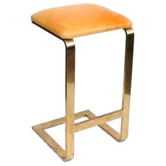 Brass and Leather Stool | From a unique collection of antique and modern stools at http://www.1stdibs.com/furniture/seating/stools/