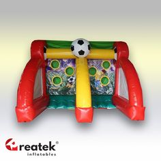 Variety of shooting soccer kick games, optional colors with logo print or other branding options. Inflatable Bounce House, Inflatable Slide, Logo Shapes, Shooting Games, Indoor Playground, Things That Bounce, Balloons, Soccer, Europe