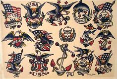 Sailor Jerry, one of the first major tattoo artists to become well known in the States. Sailor Jerry (AKA Norman Collins) expanded the range of colors available in tattoos by creating his own pigments. He was also one of the first to insist upon hospital-quality sterilization techniques. Even if you're not a tattoo aficionado, you probably recognize some of his work in the Ed Hardy clothing line – Ed Hardy was one of Sailor Jerry's protégés. Converse uses some of Sailor Jerry's designs on…