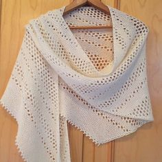 Hot Oatmeal Lace Scarf Pattern