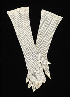 American Evening Gloves 1830-1835 Cotton
