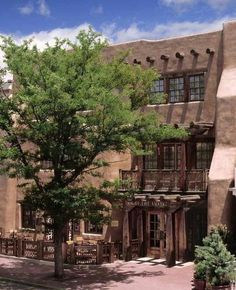 Rosewood Inn of the Anasazi is located in the heart of Santa Fe. The 58-room boutique hotel in the historic downtown area is an elegant expression of Southwestern style, boasting massive hand-carved doors, sculptured stairways and sandstone walls that whisper of prehistoric Pueblo living.
