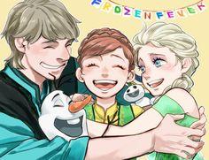 Disneyphile Land: Frozen Fever- Kristoff, Anna, and Elsa #disney #frozen #fanart