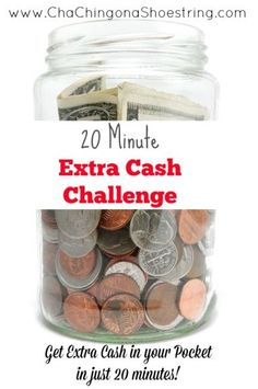 Take the 20 Minute Extra Cash Challenge and save up for something FUN!