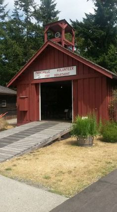 The Volunteer Firehall One of 8 heritage buildings located in Parksville Museum. Fire Hall, Back In Time, Buildings, Shed, Museum, Community, Outdoor Structures, Museums, Barns